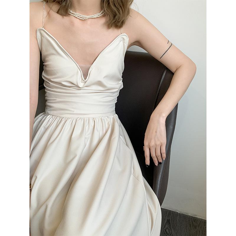 DTEDITION Dreaming DT EDITION exquisite bead chain design sense suspender skirt women's dress 2021