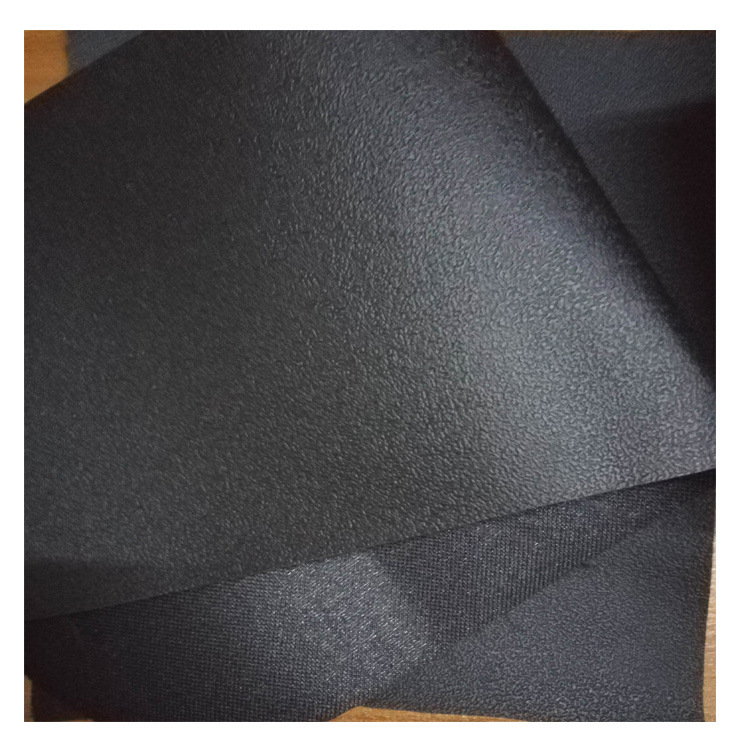Environmental protection PVC leather 0.8mm black anti-slip leather leather plus anti-slip agent leat