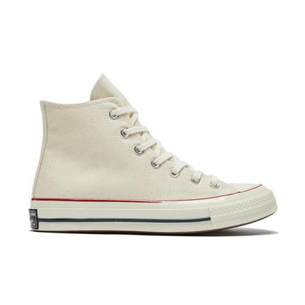 CONVERSE giày vải Converse chính thức của những năm 1970 giày vải cổ điển cao cổ màu be của Samsung