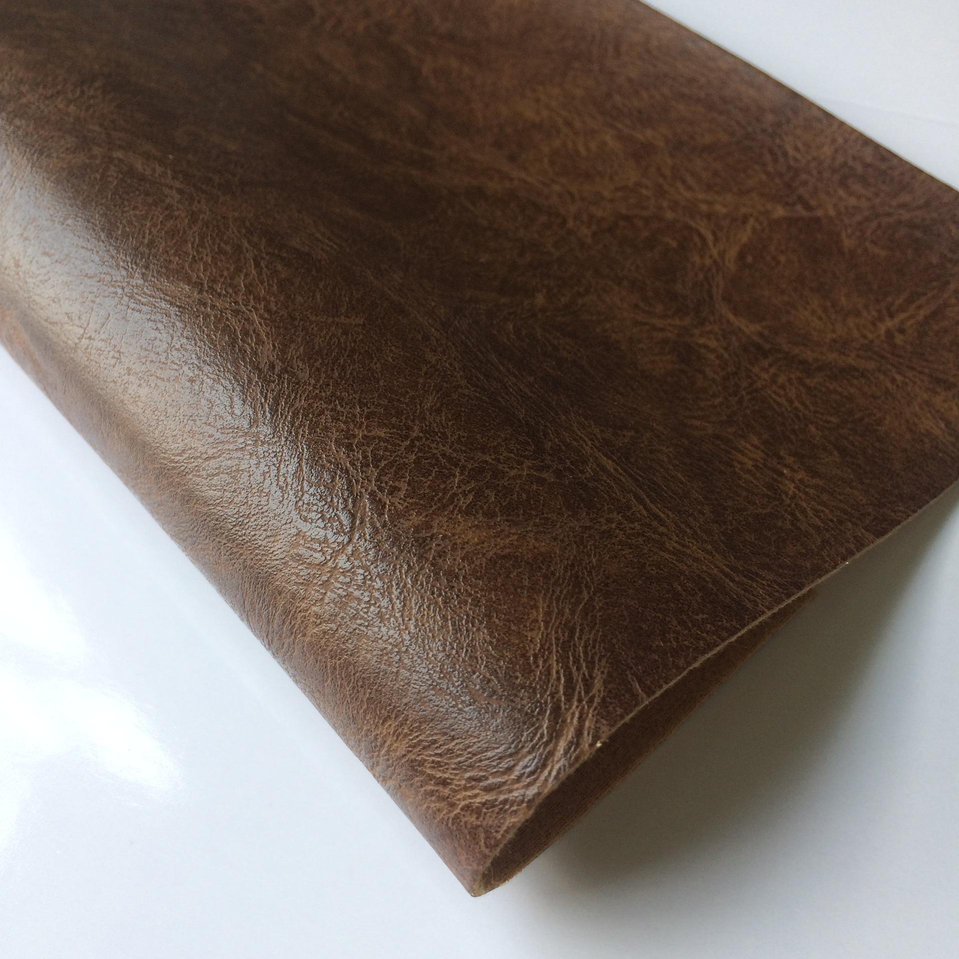 DINGTIAN Half pu two-color retro imitation leather sofa upholstered seat furniture upholstery leathe
