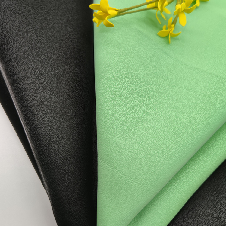 YILI PU artificial synthetic leather velvet feeling bright PU fabric 0.7mm full viscose soft leather