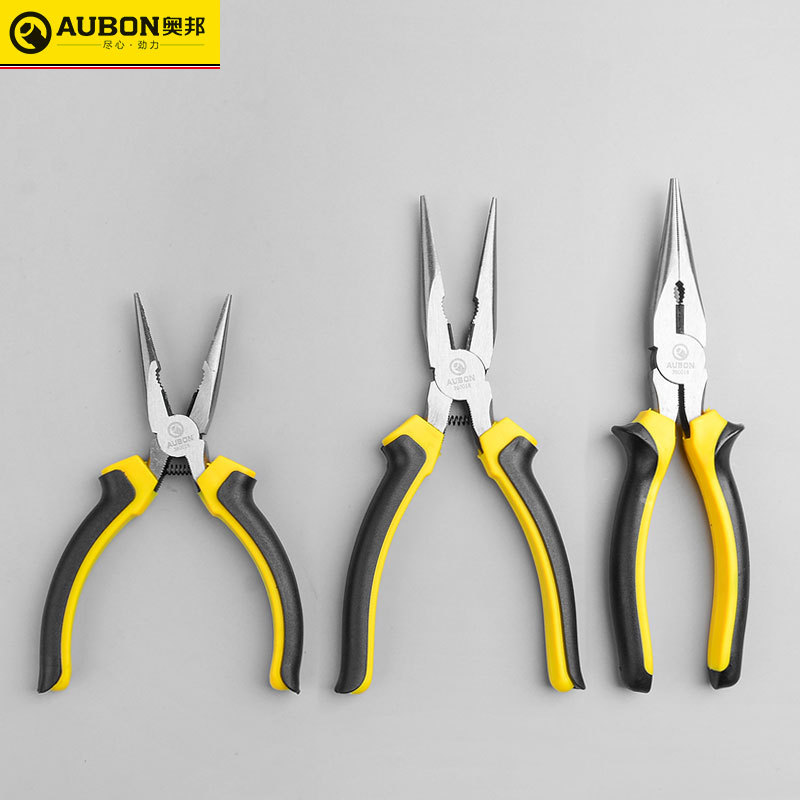 AUBON Aobang Tools 8-inch banana handle boxed needle-nose pliers manual twisting wire 6-inch toad ha