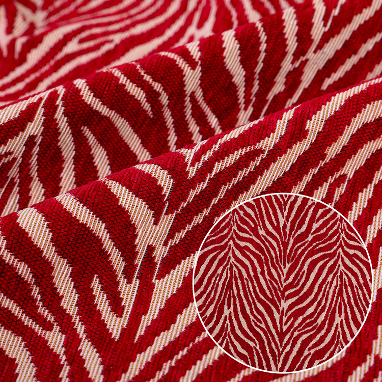 Polyester-cotton plain weave chenille yarn-dyed jacquard fabric Ethnic style abstract jacquard cushi