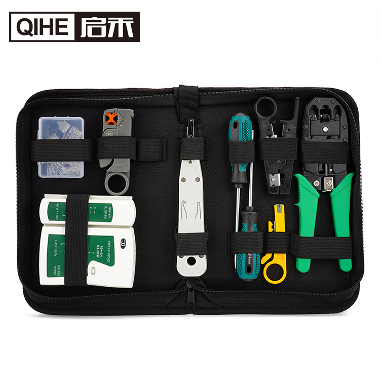 Household repair tools electrician network tester kit combination set crystal head network cable pli