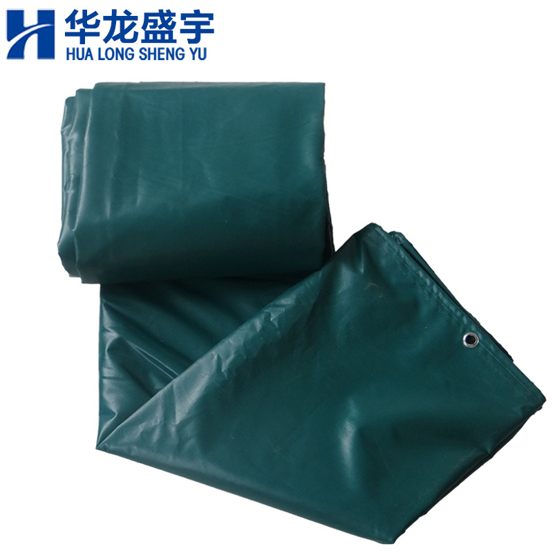 PVC coated thick waterproof canvas tarpaulin rainproof sunshade sunscreen army green tarpaulin