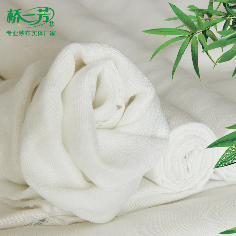 Double-layer bamboo cotton white gauze spot wholesale baby clothing diapers sweat towel bamboo cotto