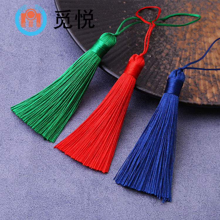8cm Polyester Tassel Tassel Chinese Style Bookmark Apparel Hanging Tassel Accessories Earrings Jewel