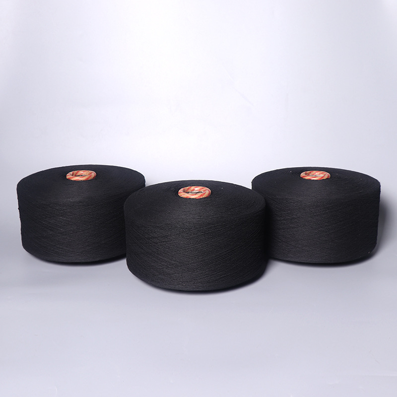 Combed cotton yarn 100% cotton organic color spinning 32 black pure cotton spinning yarn