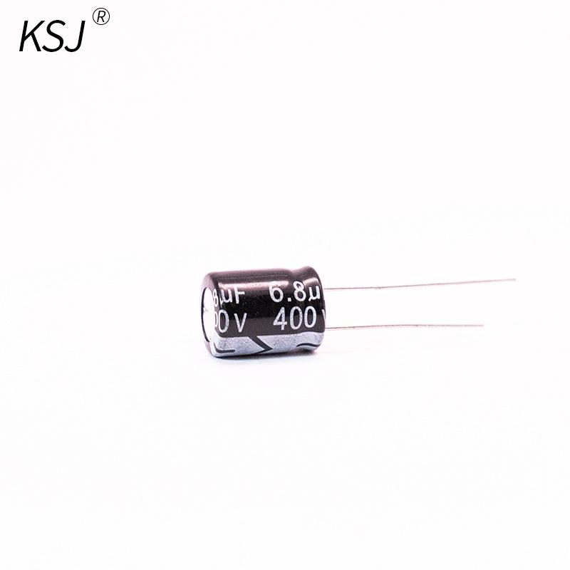 KSJ Domestic electrolytic capacitor 400V6.8UF 8*12mm LED switching power supply aluminum electrolyti