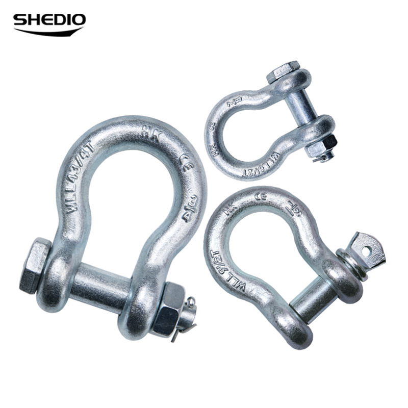 Shengdiao American bow shackle 0.5 tons 1 ton 2 tons 4.75 tons lifting buckle bow ring