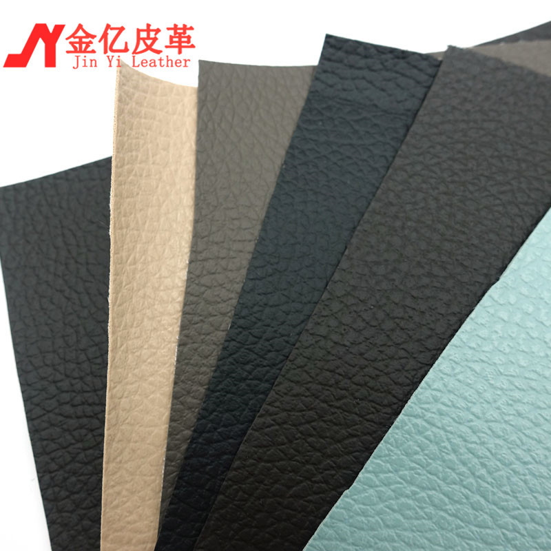 Jinyi litchi pattern factory directly supplies pvc synthetic leather napped fabric anti-mold and low