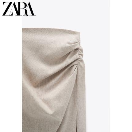 Zara  Váy xếp ly vải lanh của phụ nữ mùa xuân mới của Zara 02429486711