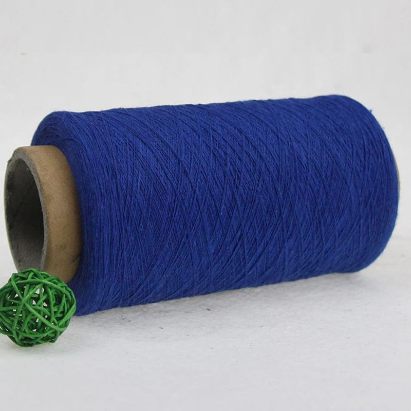 10~19s Royal Blue Recycled Cotton Yarn Polyester Cotton Yarn Colored Cotton Spinning Yarn