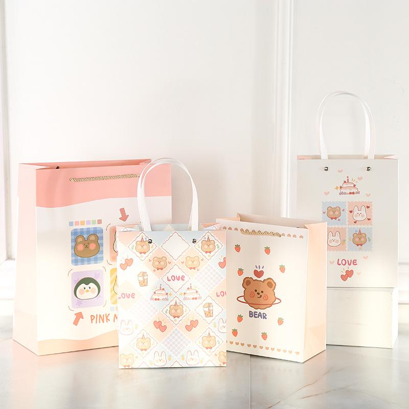ins Japanese and Korean cute cartoon children's day gift bag simple small fresh creative rivet pack