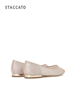 Scatto Fairy Giày cô dâu   Shoes Mùa thu Giày công chúa mũi nhọn mới Rhinestone Phụ nữ Giày phẳng Gi