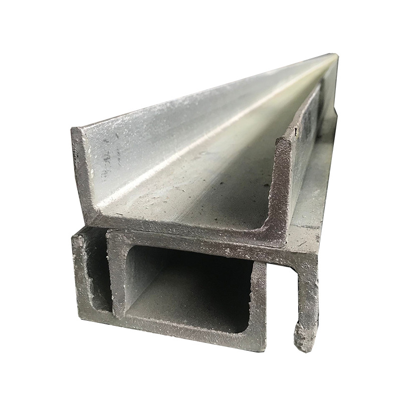 Channel steel 10# Q235B galvanized U-shaped steel 16# processing and punching for curtain wall engin