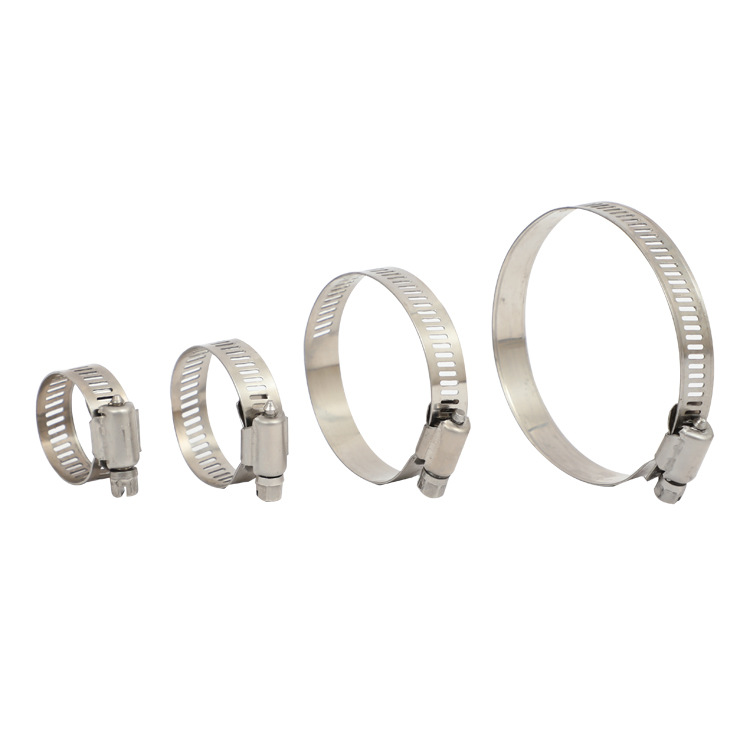 BOZHU 304 American stainless steel hose clamp communication clamp clamp 201 stainless steel pipe cla