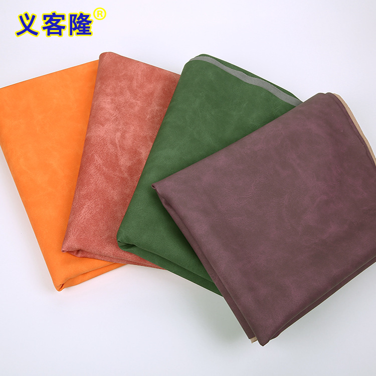 YIKELONG Frosted pu imitation microfiber 1.0mm sofa furniture artificial leather luggage shoes two-c