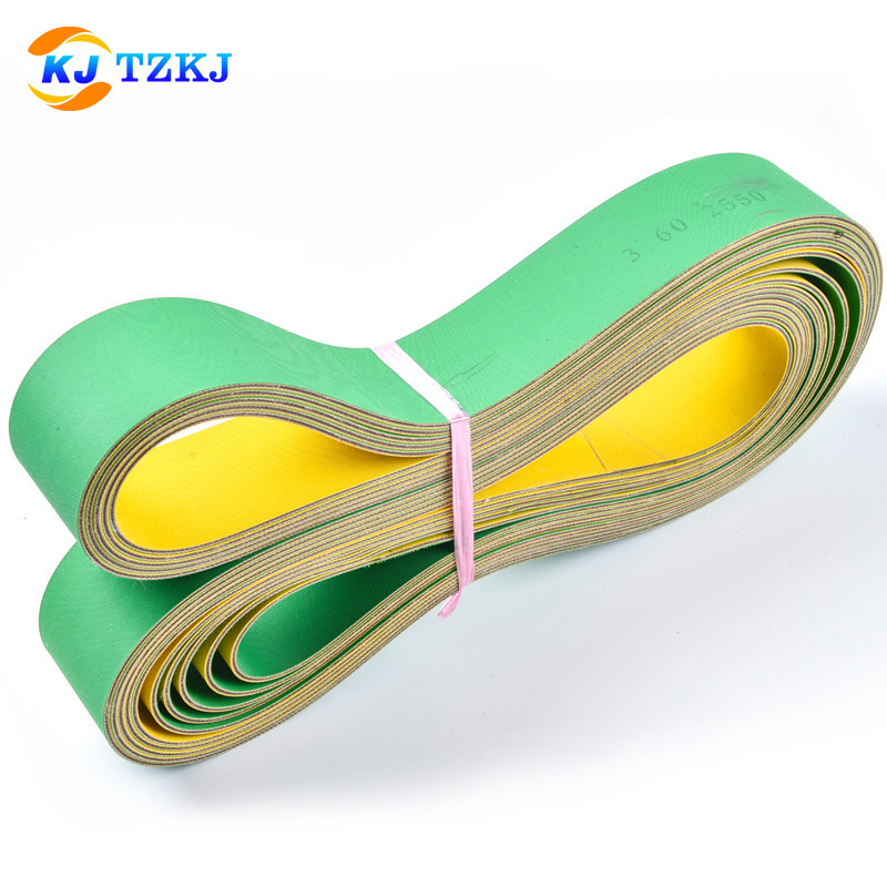 KANGJIAN Yellow-green base belt customized flat belt manufacturer industrial belt wholesale anti-sta
