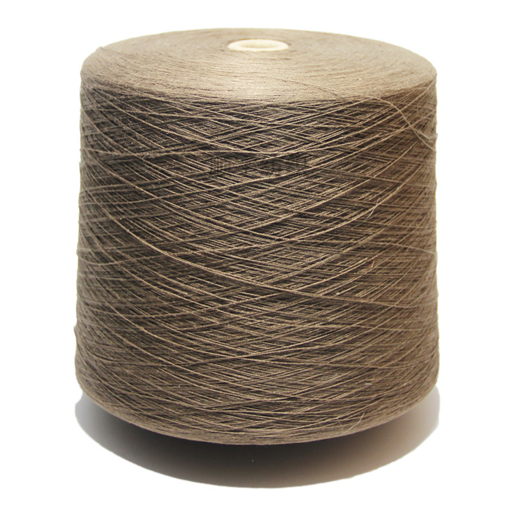 Linen yarn 36 counts of pure linen colored yarn support customized colored tube linen yarn