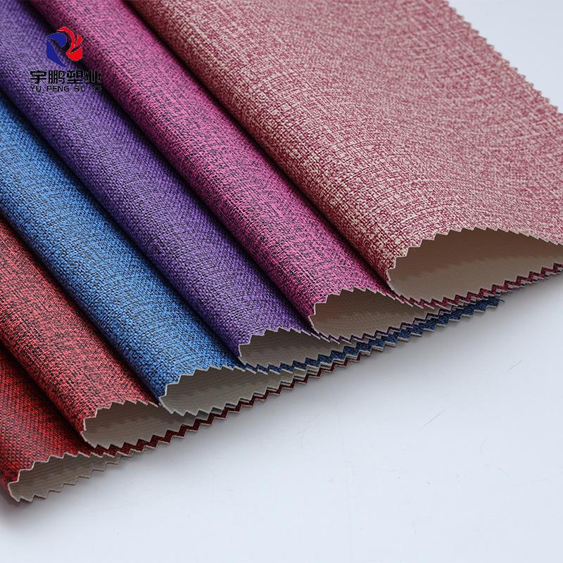 Vật liệu da PVC nhân tạo Màu nguyên chất mềm mại và chống trầy xước
