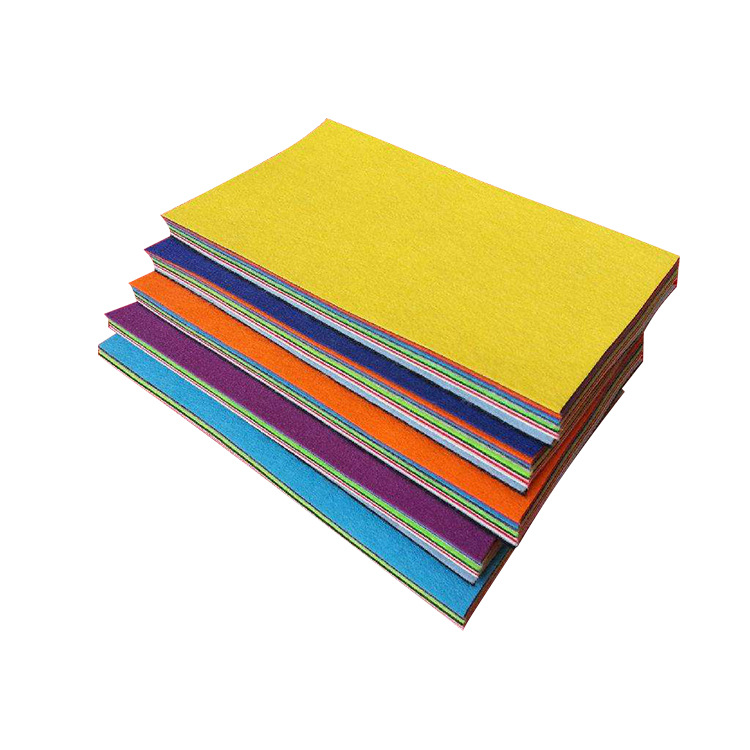 Colored chemical fiber needle-punched adhesive felt anti-adhesive non-woven felt