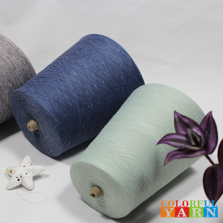 Knitting yarn, polyester and linen blend, anti-ultraviolet, moisture wicking, water absorption and q
