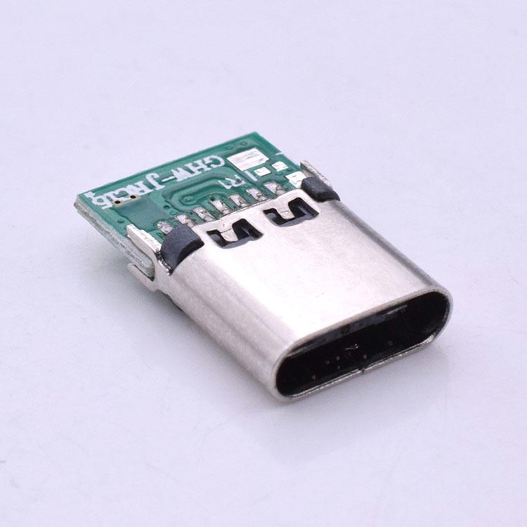 FYY type-c soldering wire female socket typec female socket 3.1 with board connector plug splint soc