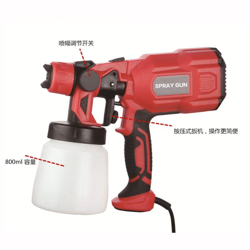 Portable pneumatic tools, lithium battery high atomization high pressure electric spray gun, large c