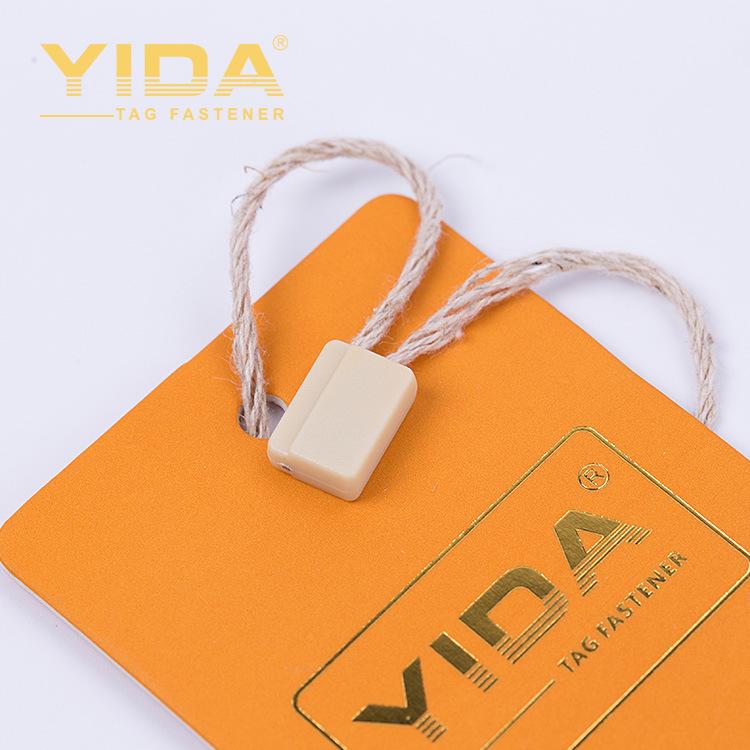 YIDA Clothing woven hemp rope tag custom pvc tag rope woven label nylon hemp rope lace tag hanging t