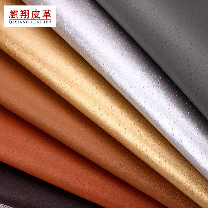 QIXIANG Perforated pigskin bottom pu leather lining material notebook bag belt leather pinhole breat