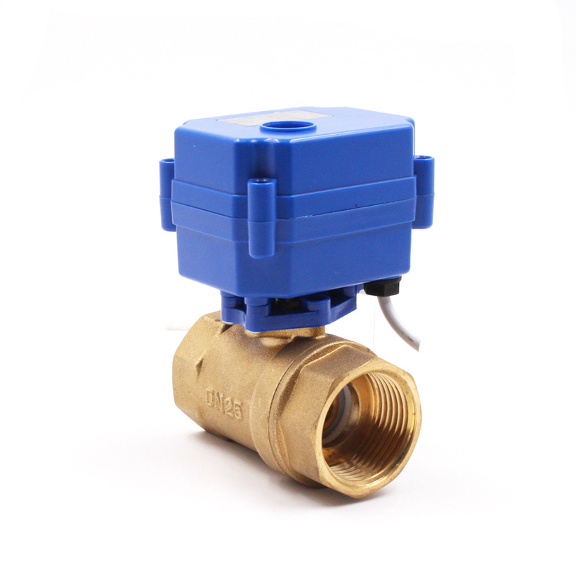 CWX 1 inch electric two-way valve central air conditioning fan coil electric valve copper ball valve