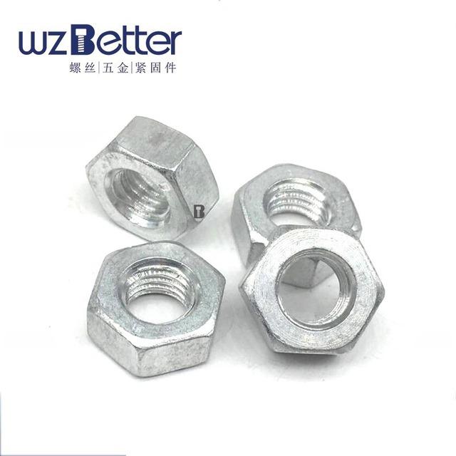 BAITE Aluminum Hexagon Nuts Pure Aluminum Nuts Aluminum Alloy Hex Nuts Nuts Aluminum Nuts M3-M12