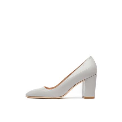 Stuart Weitzman Giày cô dâu  / SW JULIETTE 2021 đầu xuân mới giày cao gót đế vuông giữa giày nữ