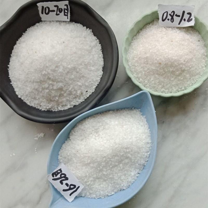 HUASHUO Quartz sand White quartz sand for sandblasting and rust removal Furnace material Quartz sand