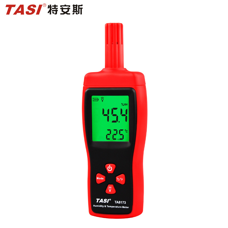 TASI Teans Digital Thermometer TA8173 Digital Display Electronic Temperature and Humidity Meter Ther