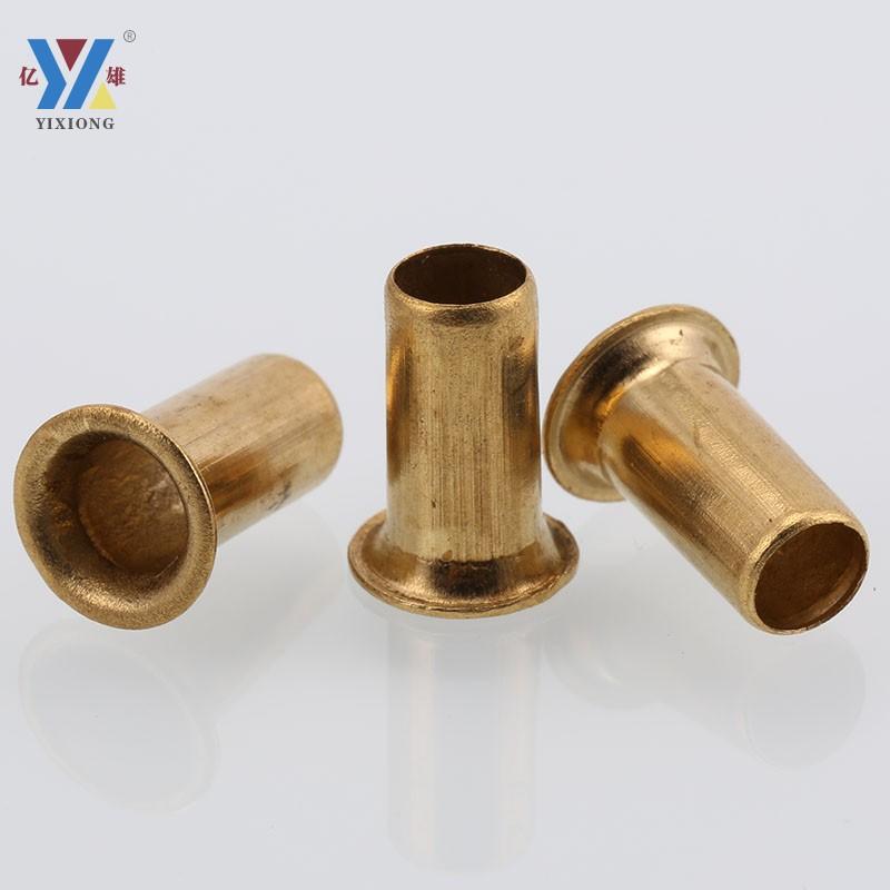 Yixiong Copper Rivets Copper Hollow Rivets Copper Tubular Rivets Copper Eyelet Rivets M2/2.3/2.5/3/4