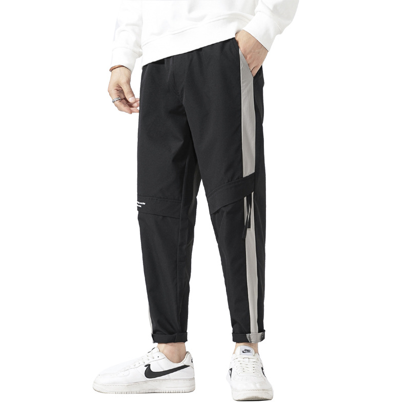 LONGHEXING Casual pants men's pants 2021 new spring and autumn Korean version of the trend loose fe