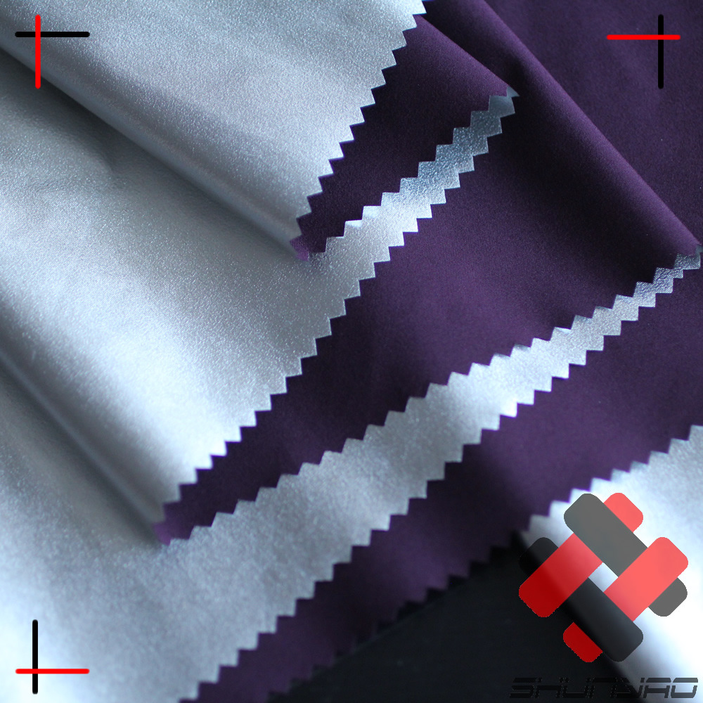 Functional silver thermal insulation lining, anti-radiation and breathable fabric