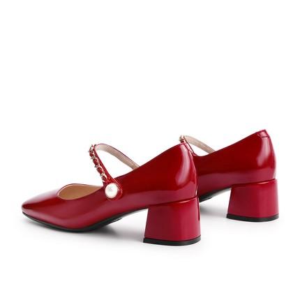 Belle's Giày cô dâu   word with Mary Jane shoes Trung tâm mua sắm mùa xuân mới 2021 của phụ nữ với