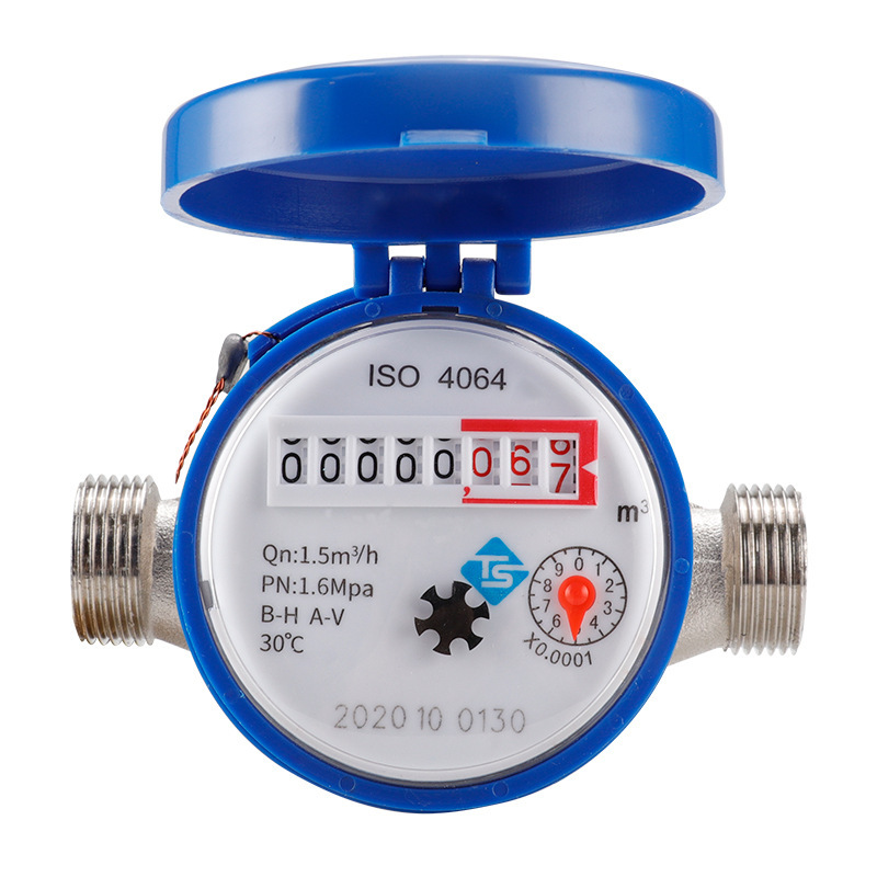 TS 15mm 1/2 inch cold water meter for garden and home use, household mechanical rotary wing cold wat