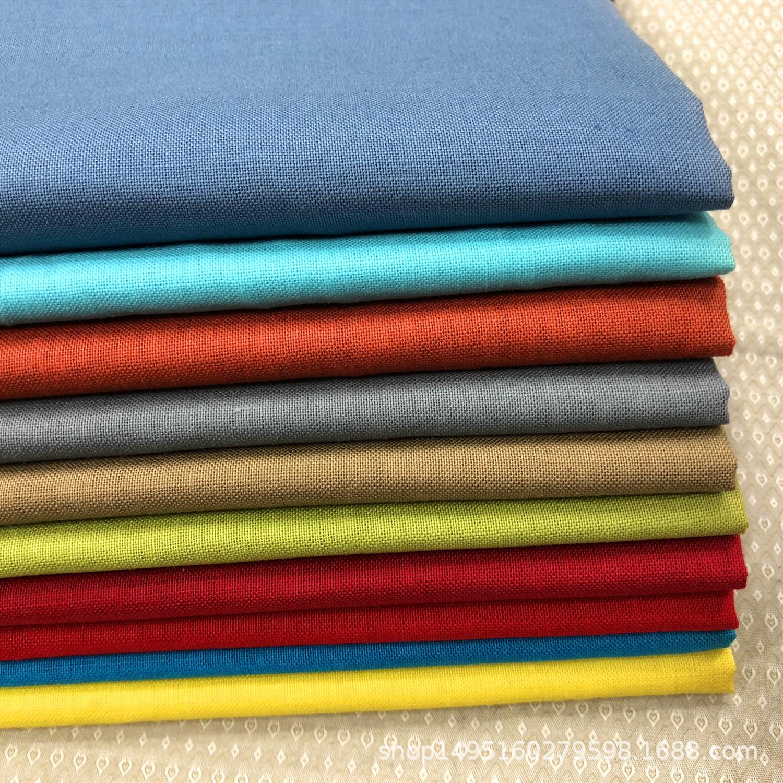 Korean single multicolor ramie cotton/pure color, garment fabric, pure ramie dyed cloth