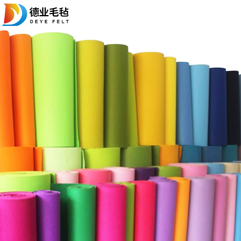 DEYE Non-woven colored felt wholesale custom-backed polyester colored chemical fiber felt