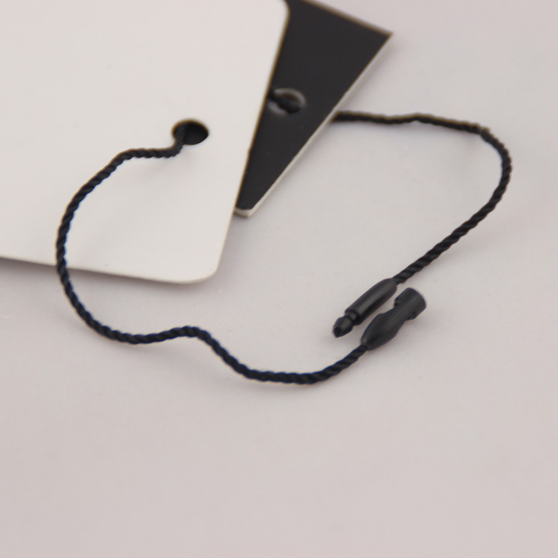 Polyester thread bullet hanging grain black and white rice three-color 20CM tag lanyard clothing uni
