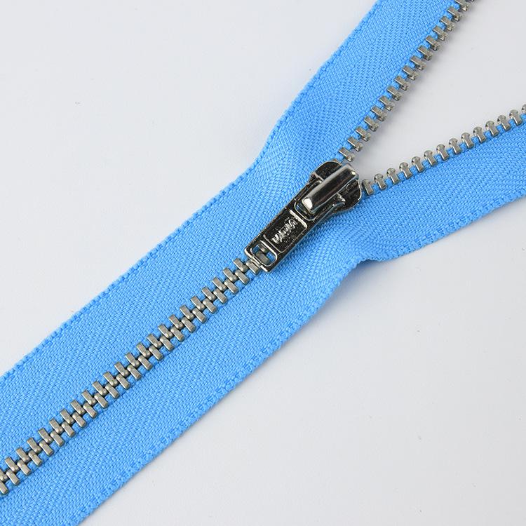 SBS Electric white copper zipper sbs3 metal zipper spot Multi-color cloth side zipper