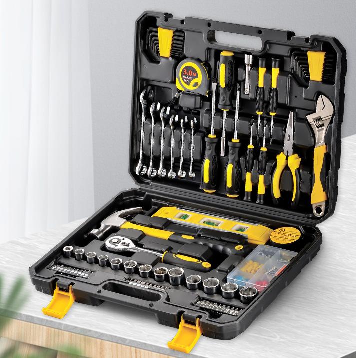 HABO 108P Tool Set Household Hardware Hand Tool Combination Car Repair Kit Tool Box