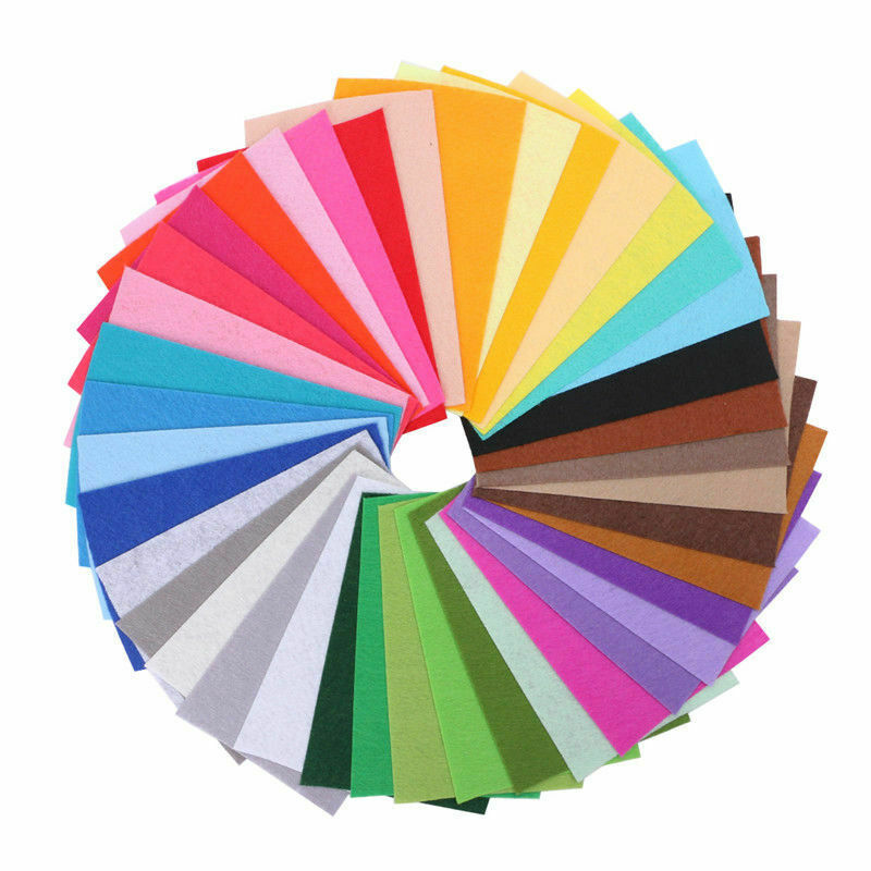 DINGSEN 1MM 2MM 3MM 4MM 5MM felt fabric non-woven fabric chemical fiber felt full color