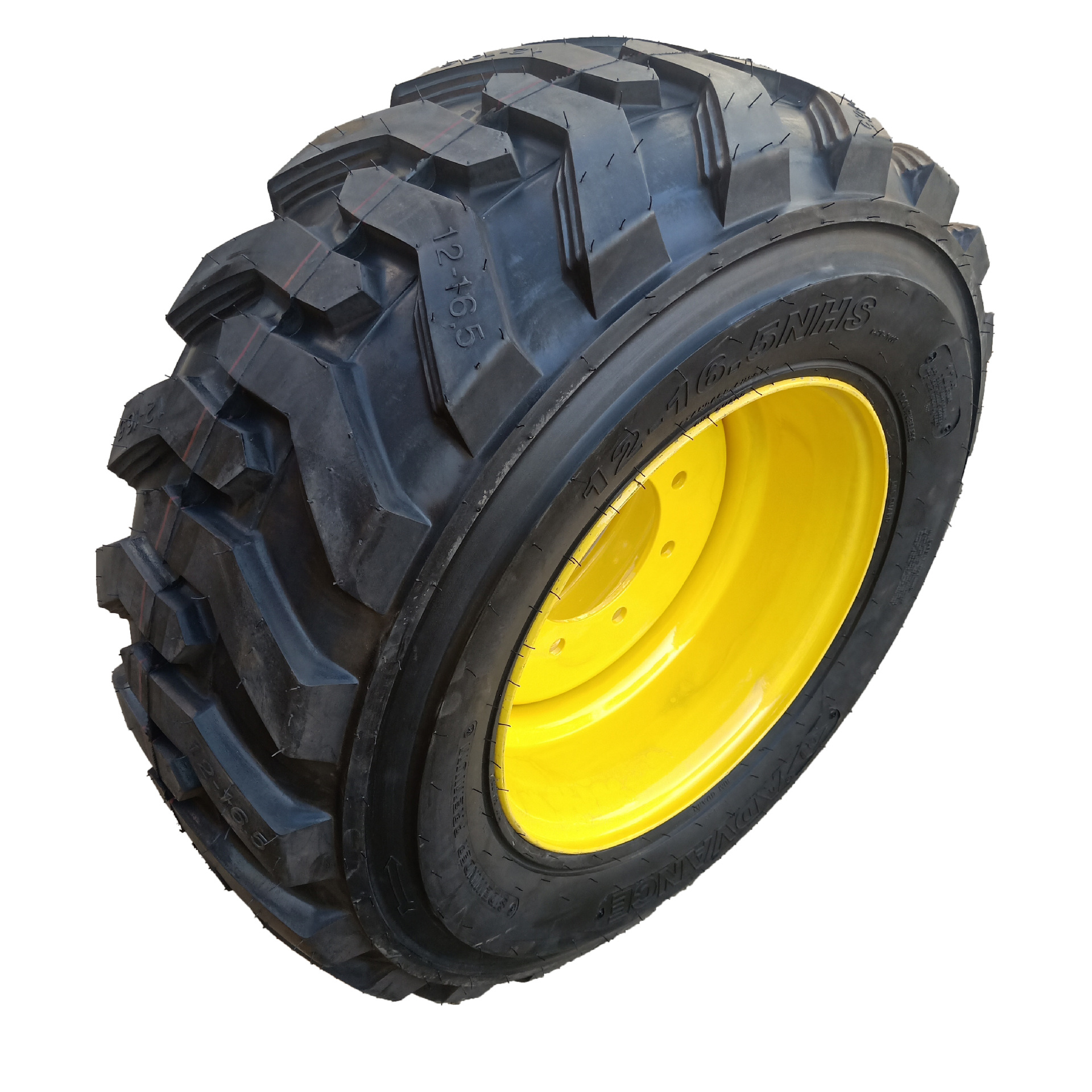 Skid steer loader tires 12-16.5 factory wholesale can be equipped with steel ring construction machi