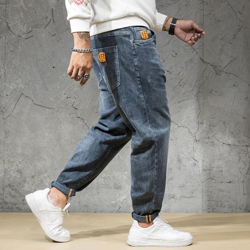FEITA Trendy brand plus size men's jeans autumn and winter new plus fat plus size fat jeans men's