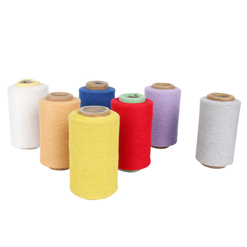 WEIXIANG Yarn 8 counts cotton polyester colored yarn supply Multi-color recycled cotton spinning yar